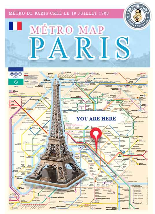 Paris Metro Subway Map