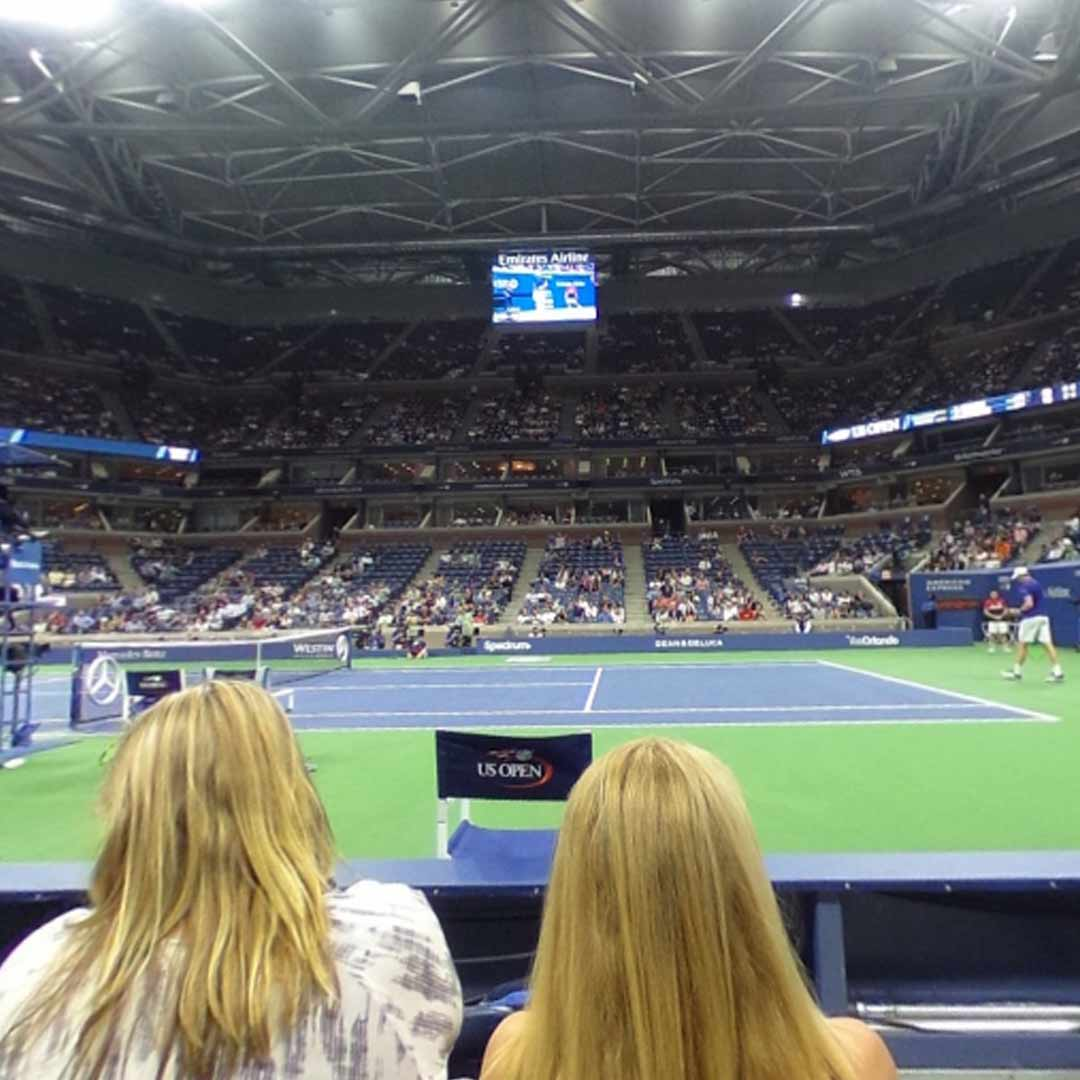 US Open Arthur Ashe Stadium Court side