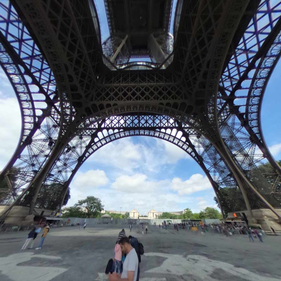 Beneath the Eiffel Tower